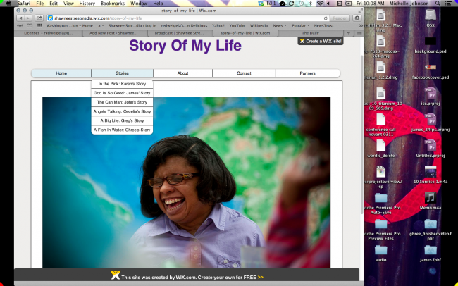 Story of My Life website